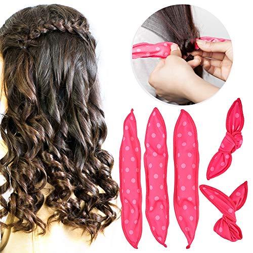 GUO 10 Pcs/Lot Hair Curlers Soft Sleep Pillow Hair Rollers Set Best Flexible Foam and Sponge Magic Hair Care DIY Hair Styling Tools,Black