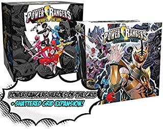 Power Rangers: Heroes of The Grid Board Game + Power Rangers: Shattered Grid Expansion! Game Bundle!