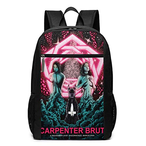 IUBBKI Carpenter Brut Backpack Travel Laptop Business Anti Theft Slim Durable Laptops Backpacks Water Resistant College School Computer Bag Gifts for Men & Women Fits 17 Inch Notebook