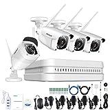 ANNKE 8CH 1080P Kit Videosorveglianza WiFi Sistema Plug and Play H.264+ Telecamera WIFI Bullet Visione Notturna Accesso Remoto Esterno Senza HDD