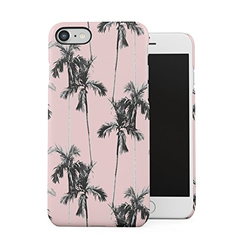 DODOX Palm Trees Good Vibes Pink Pastel Summer Pattern Tumblr Case Compatible with Apple iPhone 7/8 / SE 2020 Snap-On Hard Plastic Protective Shell Cover Carcasa