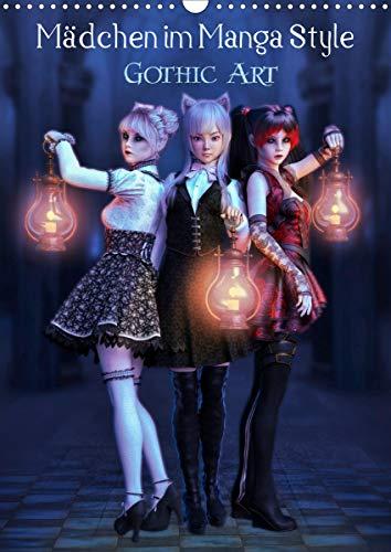 Mädchen im Manga Style (Gothic Art) (Wandkalender 2021 DIN A3 hoch)