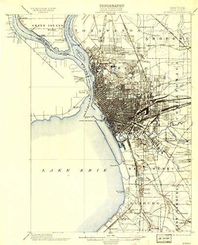 YellowMaps Buffalo NY topo map, 1:62500 Scale, 15 X 15 Minute, Historical, 1901, Updated 1913, 19.69 x 15.91 in - Paper (Best Places To Work Remotely In Minneapolis)