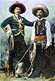 Posterazzi Poster Print Collection Mexican Cowboys/Nin One of Buffalo Bill'S Wild West Shows: Oil Over a Photograph C. 1900, (18 x 24), Multicolored