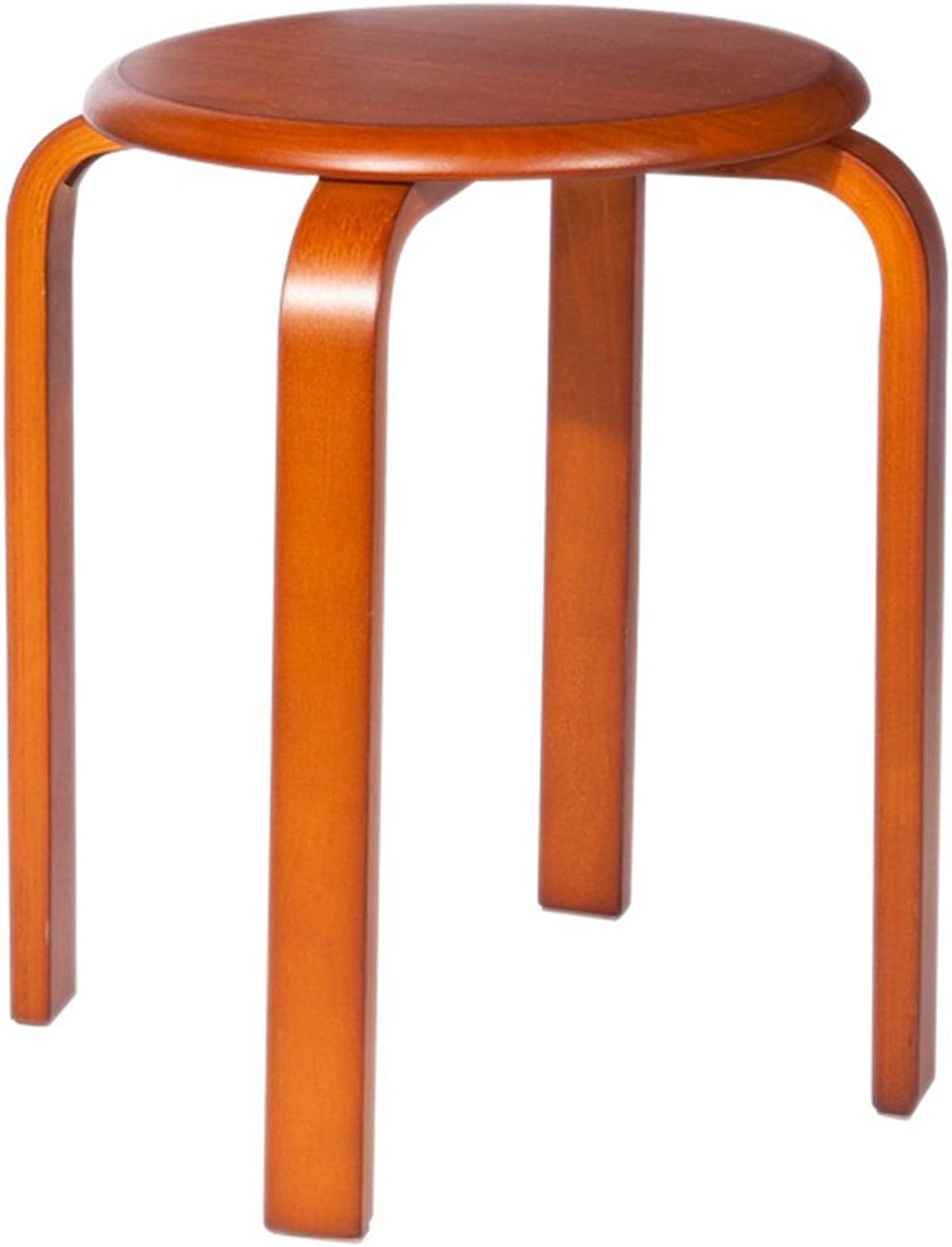 Xiaolin Solid Wood Stools Stools Home Tables and Chairs Creative Fashion Short Stools Stools (color   Honey color)