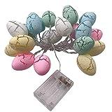 20 luci a stringa con uovo di Pasqua a LED,Pasqua Catena di luci a LED micro filo con funzionamento a batteria, Decorazioni Uova di Pasqua,luci a stringa 3M a batteria Luci pasquali a batteria.