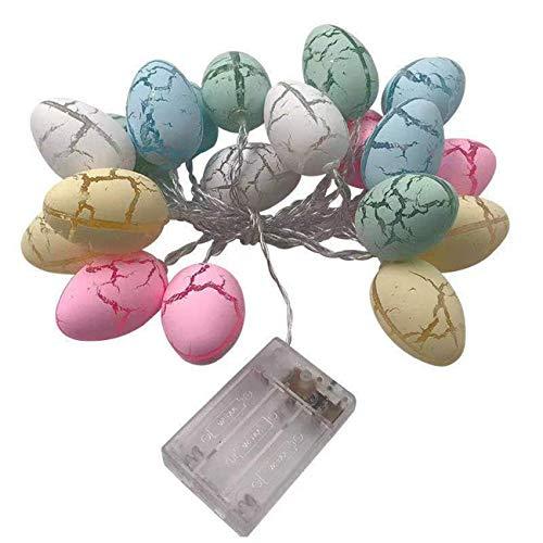Ostern Lichterketten, 3 M 20 LED Osterei Licht Schnur LED Lichterketten Ostereier String Lights Ostern Schnurlicht für Ostern Festliche Geburtstagsfeier Dekoration
