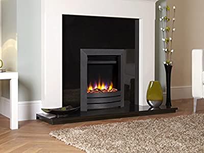 Designer Celsi Fire - Ultiflame VR Camber Black Electric Fire