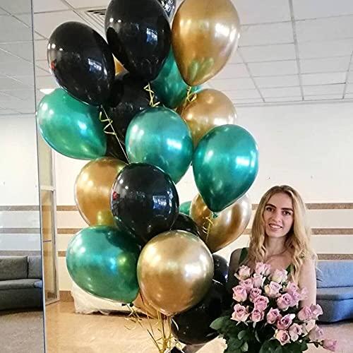 XLLQYY 18 globos de látex de metal cromado dorado plateado oro rosa transparente confeti globo boda fiesta de cumpleaños decoración globos de aire (estilo 25)