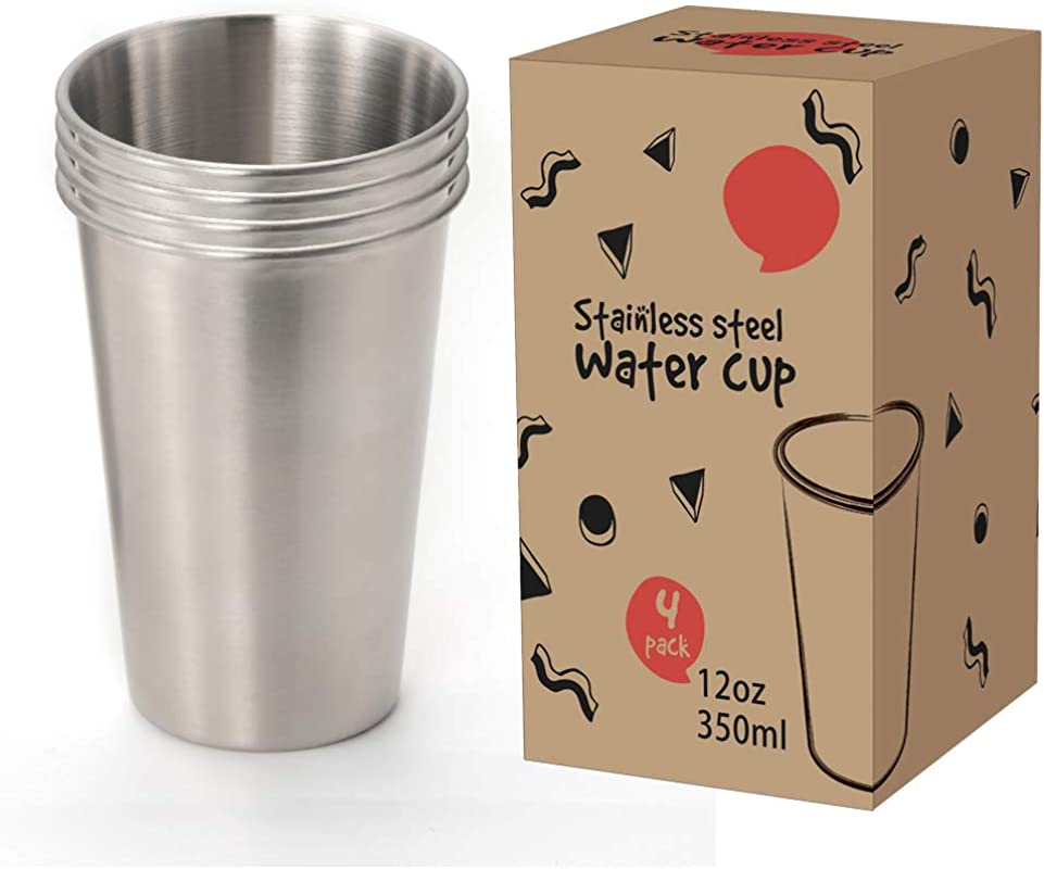 Dali Stainless Steel 12 Oz Cup Stackable And Unbreakable Drinking Cups Great For Kids Set Of 4 12oz