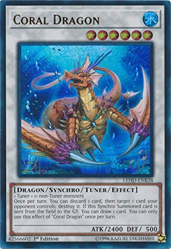 Yu-Gi-Oh! - Coral Dragon - LEHD-ENB38 - Ultra Rare - 1st Edition - Legendary Hero Decks - Aesir Deck