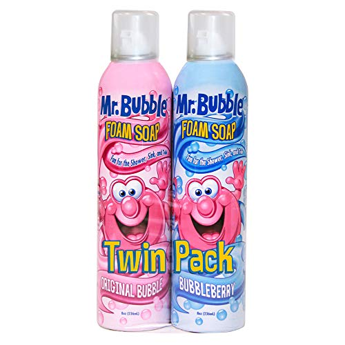 Mr. Bubble Foam Soap, Twin Pack, Rotating Scents, 8 oz Each