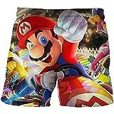 LIANGJI Shorts de Playa Mario Divertido Juego de Mario Bro, Pantalones Cortos Lindos, Pantalones Cortos 3D para niñas y niños, Pantalones Cortos de Verano para Adolescentes, Pantalones Cortos de Ocio