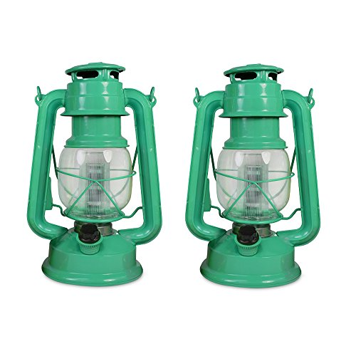 NORTH POINT Northpoint Vintage Style Hurricane Lantern with 12 LED