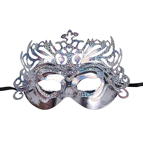 Bigood Paravent de Mascarade Cosplay Soirée Argenté