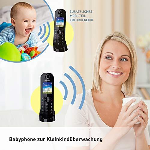 Panasonic KX-TGQ400GB DECT IP-Telefon (schnurlos, CAT-iq 2.0 kompatibel, Freisprechmodus, Anrufersperre, Eco-Plus, digitales Telefon) schwarz