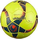 uhlsport Medusa Anteo 290 Ultra Lite Ballon de Foot Mixte Adulte, Fluo Jaune/Petrol/Noir, 4