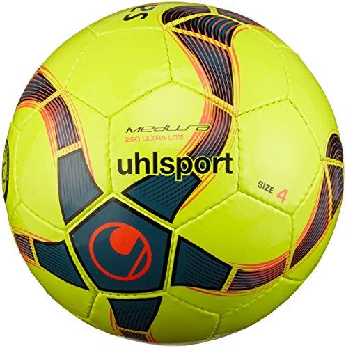 uhlsport Ball MEDUSA ANTEO 290 ULTRA LITE Fußball, fluo gelb/petrol/Schwarz, 4