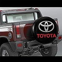 Toyota Logo オートタイヤカバー防水ポリエステルスペアタイヤカバー(シングルパック)