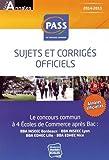 Concours commun PASS - Sujets et corrigés officiels