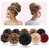 2PCS Hair Bun Extensions Messy Curly Hair Scrunchies Hairpieces Synthetic Donut Updo Hair Pieces for Women Girls(Color:24-613#)