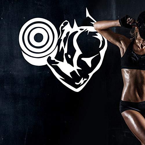 Laufen Fitness Aufkleber Fitness Poster Vinyl Muskel Wandtattoo Dekoration Wand Hantel Aufkleber Club Athlet Aufkleber Fitnessstudio Phantasie Schlafzimmer Flügel Auto Aufkleber 40x40cm