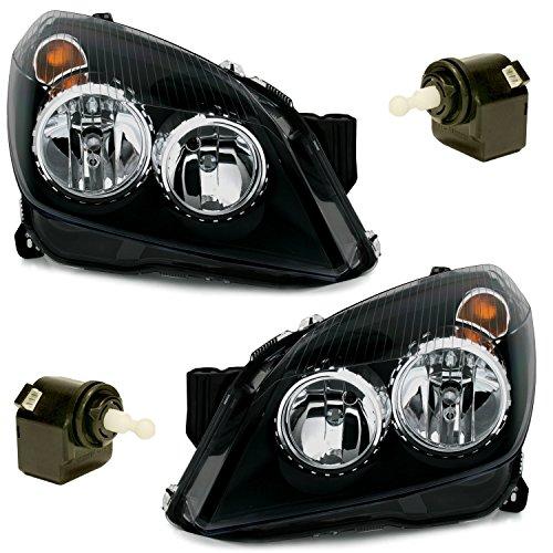 TYC Halogen Scheinwerfer Set in Klarglas Schwarz, Links + rechts