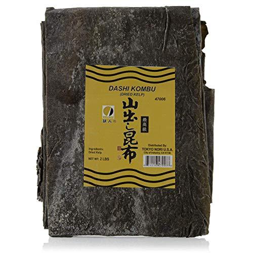 Premium Dried Seaweed for Dashi, Kombu (Kelp) in Bulk | 2 lb - 32 Oz