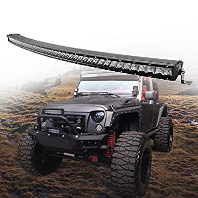 42inch CREE Curved LED Light Bar 210W single Row Spot Flood Combo Driving Lamp LED Work Light for Off Road Truck Car ATV SUV UTE UTV Jeep Boat,IP67 Waterproof