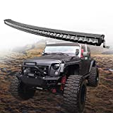 42inch CREE Curved LED Light Bar 210W single Row Spot Flood Combo Driving Lamp LED Work Light for Off Road Truck Car ATV SUV UTE UTV Jeep Boat,IP67 Waterproof