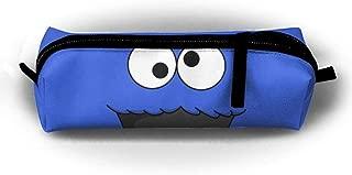 QQMIMIG Design Cookie-Monster Rectangular Children Pencil-Box Large Capacity Student Pen Bag Pouch School Supplies