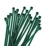 KINGLAKE GARDEN Green Zip Ties 100 Pack Green Self-Locking Green Nylon Tie,Premium Plastic Cable Zip Ties for Indoor and Outdoor(8 inch)