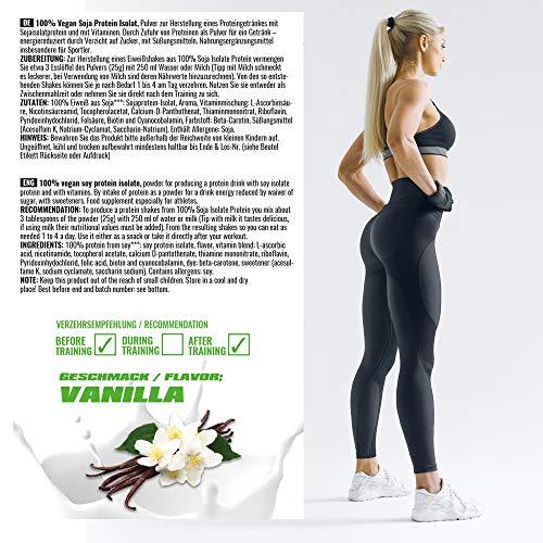 BWG 100% Soja Isolat Protein, Proteinshake, Muscle Line, Vanilla, 1er Pack (1 x 2500g Beutel) - 6