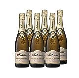 Malesan Brut Dégustation - AOP Crémant de Bordeaux - Méthode Traditionnelle - Lot de 6 bouteilles x 75 cl