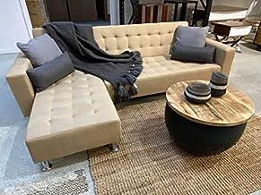 Luxe Living Room L Shape Sofa Futon Sofa Bed Furniture BEIGE Color Living Room Sofa Set Home Furniture Corner Sofa Set Mod...