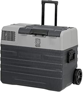 42L Brass Monkey Portable Fridge or Freezer with Solar Charger Board Plus Handles + Wheels and Supports Removable Battery