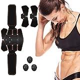 ROOTOK Electrostimulateur Musculaire, Ceinture Abdominale Electrostimulation Appareil Abdominal Musculation Electrique, EMS Eletro Stimulateur Homme Femme