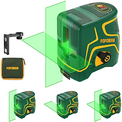 Nivel Láser Verde 45m POPOMAN,USB Carga,120° Horizontal y Vertical,Líneas Cruzadas,para...