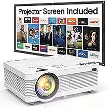 QKK Mini Projector 6500Lumens Portable LCD Projector [100