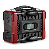 ZEEPIN Portable Power Station Generator, 222Wh Emergency Backup Lithium Battery with AC DC, QC3.0USB Ports, LED Flashlights, 110V/200W(Peak 320W) Great Solar Generator for CPAP Outdoors Travel Camping