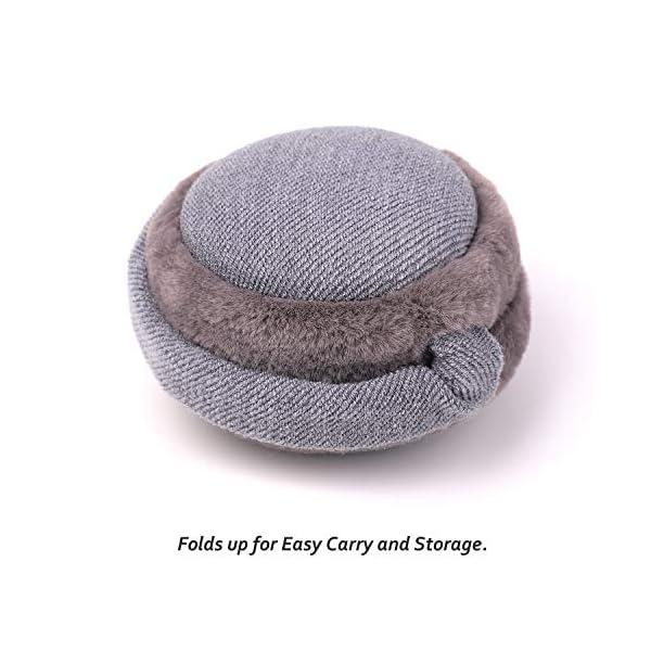 Flammi Unisex Winter Earmuffs Adjustable Faux Furry Foldable Ear Warmers Outdoor for Women Men