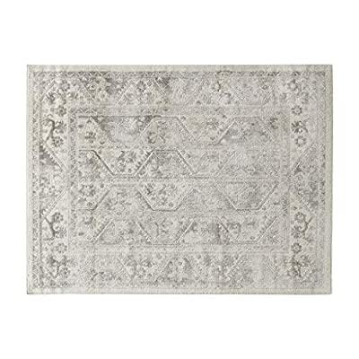 Madison Park Dakota Vienna Woven Turkish Area Rugs for Living Room, Indoor Dining Accent Modern Home Décor, Ultra Soft Floor Carpets for Dining Room, 8x10 ft, Distressed Tiled Beige