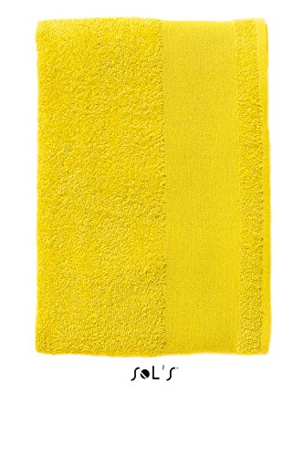 SOL'S Island 30 - Serviette à mains - 30 cm - 100% coton - patte d'accroche - Citron