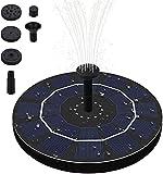 Bomba de fuente de energía solar, bomba de agua solar flotante de 1,5W con 6 boquillas Bomba de fuente flotante al aire libre para pájaros o estanques (Tamaño : 2.5w)