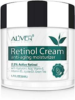 Crema Facial RetinolIFUDOIT Crema Hidratante RetinolCrema Antiarrugas Noche/Día para Rostro y Ojoscon 2.5% de Retinol ...