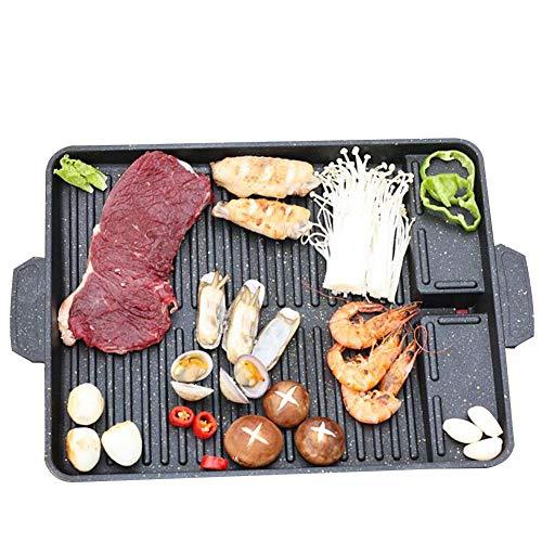 DINNA Wende Grillplatte Passend Guss-Wende-Platte, Für Gasgrill Gourmet BBQ, Gussplatte, Massive Grillplatte, Grillfläche Guss