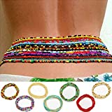 ELABEST African Waist Beads Chain Layered Belly Body Chain Beach 7Pack Waist Jewelry Body Accessories for Women Weight Loss