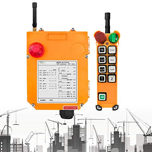 Control remoto industrial de grúa, control remoto de grúa bidireccional Vogvigo F24-8D, control remoto para elevar cabrestantes y transportadores (AC 36V 50HZ)