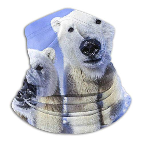 Polar Bears in The Snow Unisex Microfiber Neck Warmer Headwear Face Scarf Mask For Winter Cold Weather Mask Bandana Balaclava