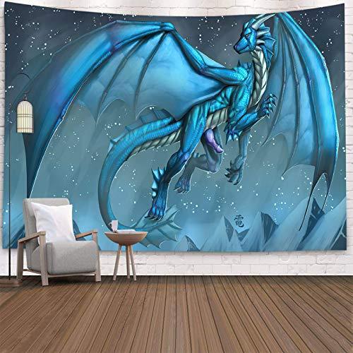 shuimanjinshan Tapiz de dragón púrpura para Colgar en la Pared, Tema de fantasía, Artista de Pared, decoración del hogar, paño de Pared de Fondo 150(H) X230(An) Cm